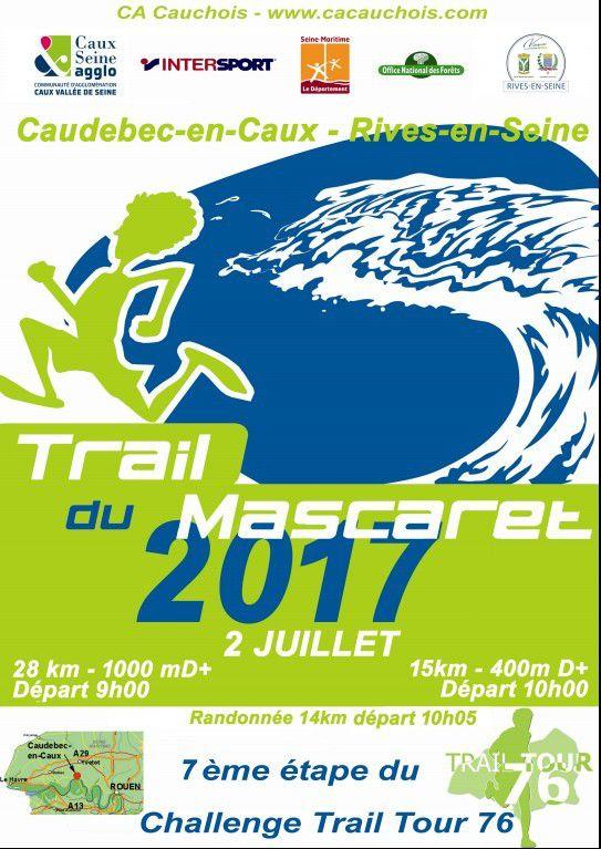 Résultat du trail du Mascaret du 02/07/17