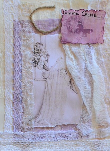 page mixed media shabby