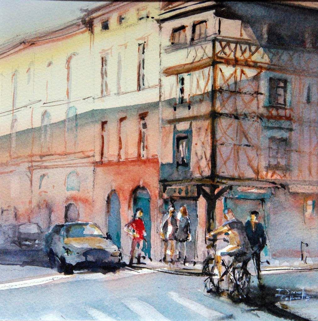 Aquarelles Toulouse, Watercolor Toulouse, Isabelle Seruch Capouillez