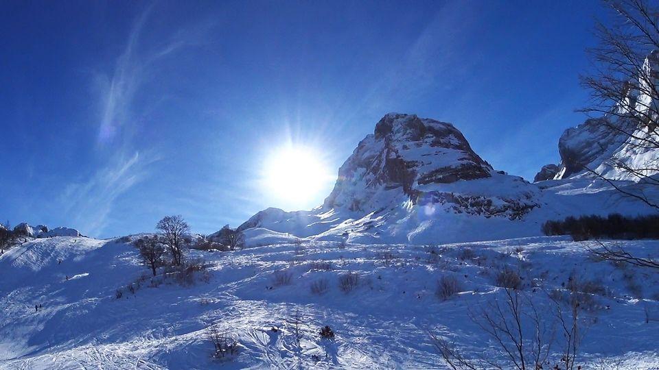 Première session de ski 2017 à Gourette (64)...