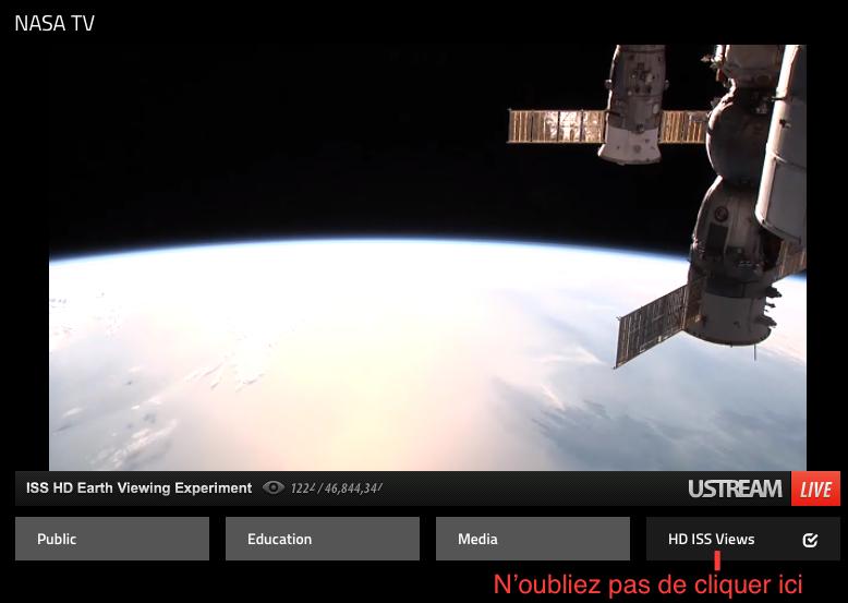 Savoir où se trouve l'ISS et la visionner en direct