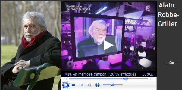 Alain Robbe-Grillet, Littérature Audio/Vidéo