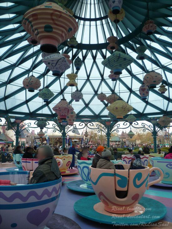 Mad Hatter's tea cups.