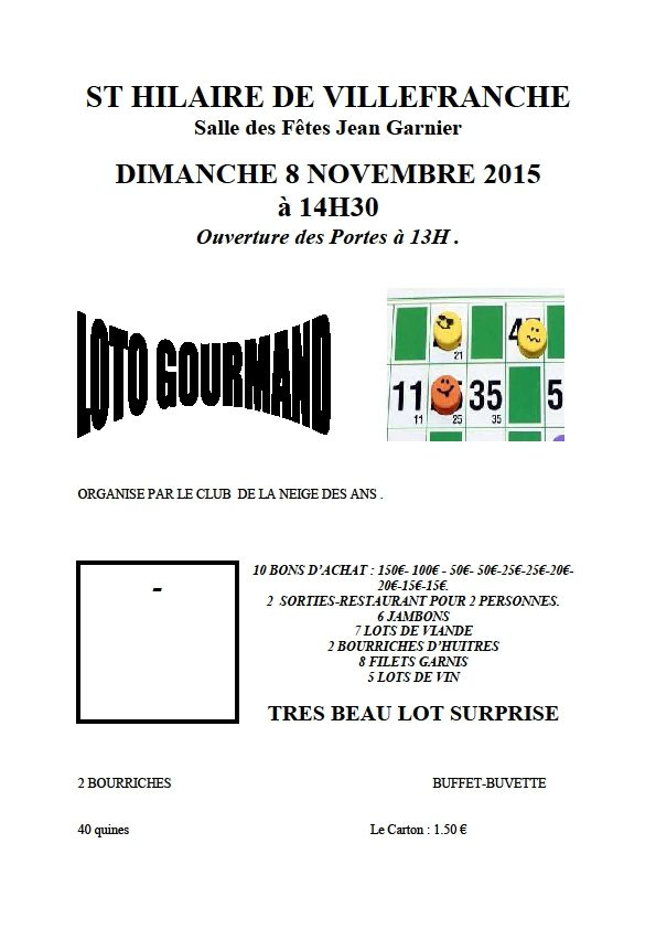 St Hilaire / Loto gourmand