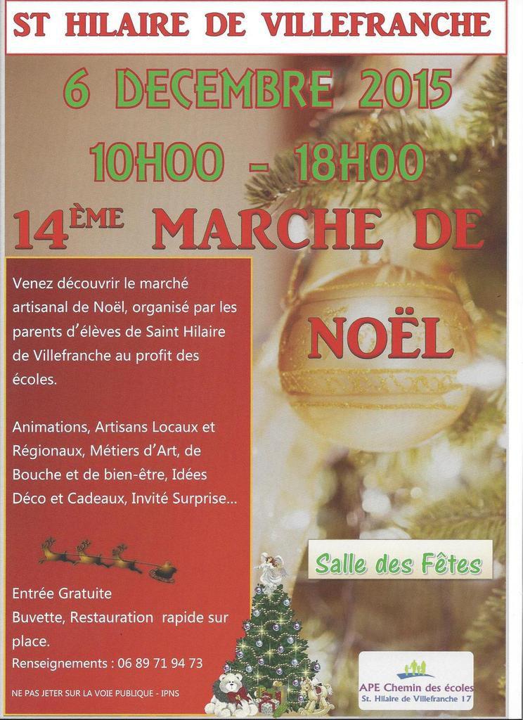 St Hilaire de Villefranche / Marché de Noël