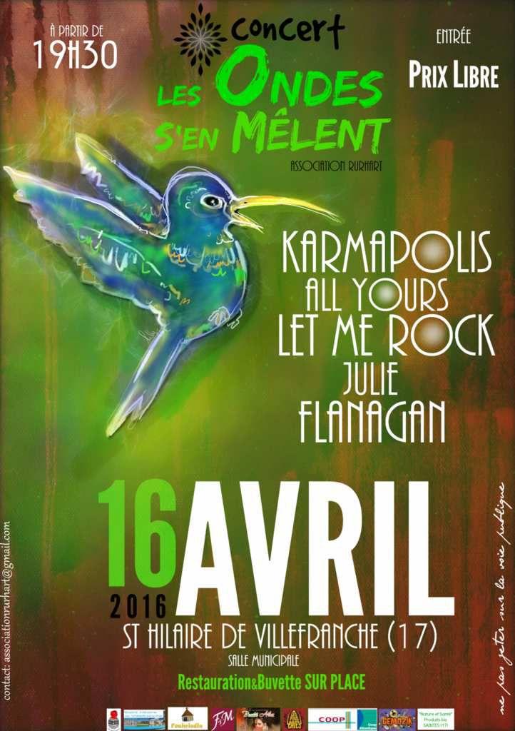St Hilaire de Villefranche / Concert &quot&#x3B;Les Ondes s'en mèlent&quot&#x3B;