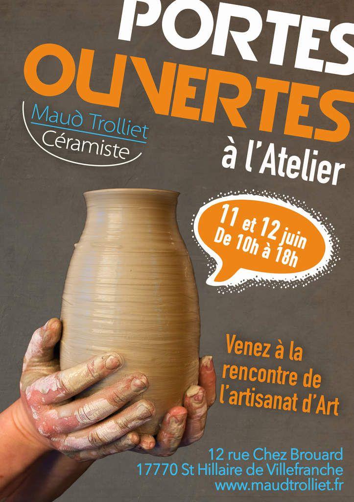 ST Hilaire de Villefranche / Portes Ouvertes à l'Atelier Céramique les 11 et 12 juin