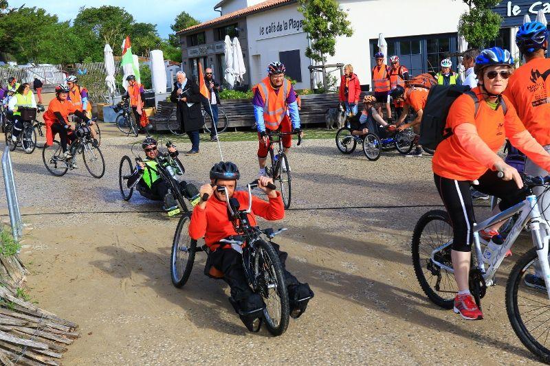 La 4ème édition du Ré-tour Handisport a eu lieu le 20 et 21 mai, 44 participants ont silloné enrtre 43 et 80 km dans une ambiance conviviale et chaleureuse. Un grand merci aux bénévoles et aux participants.