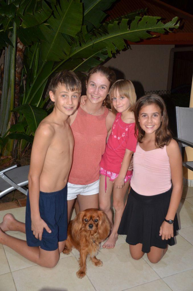 Belle brochette de cousins en attendant cet été pour être au complet avec Axel et Quentin !
