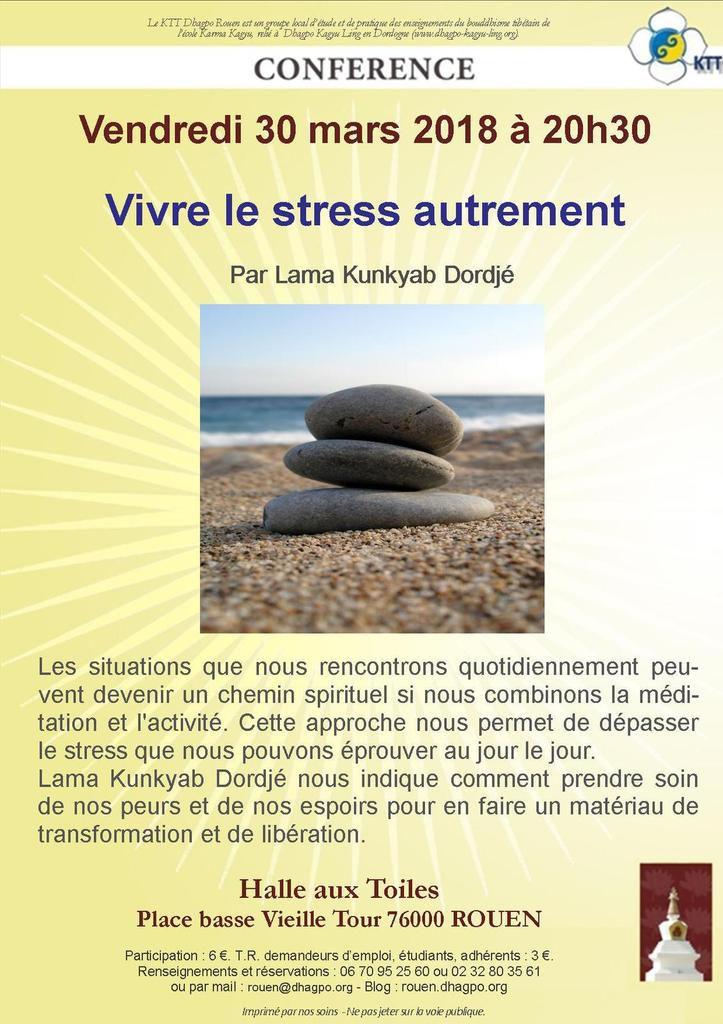 Conférence 30 mars 2018 -  Vivre le stress autrement