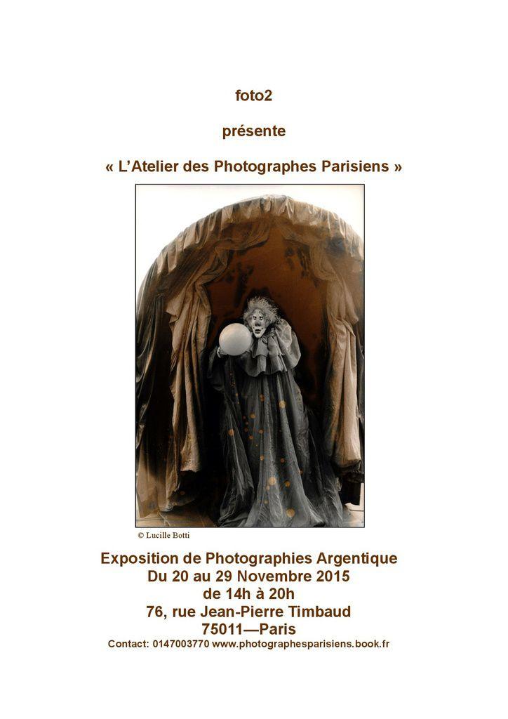 EXPOSITION &quot&#x3B;L'ATELIER DES PHOTOGRAPHES PARISIENS&quot&#x3B;