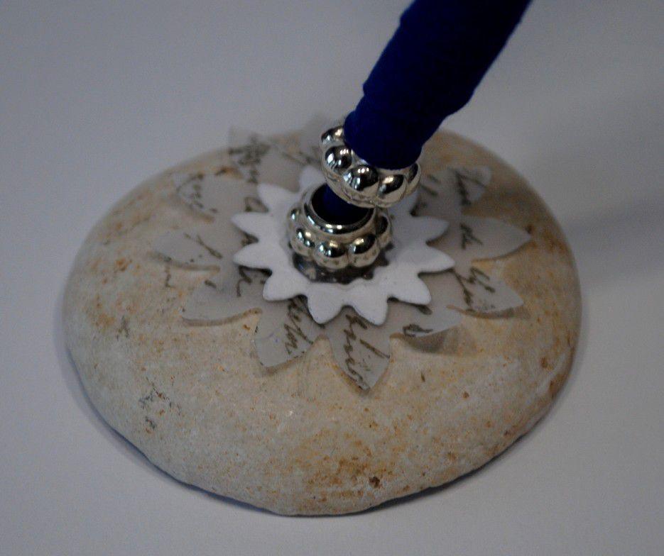 Porte-stylo personnalisé pour livre d'or mariage