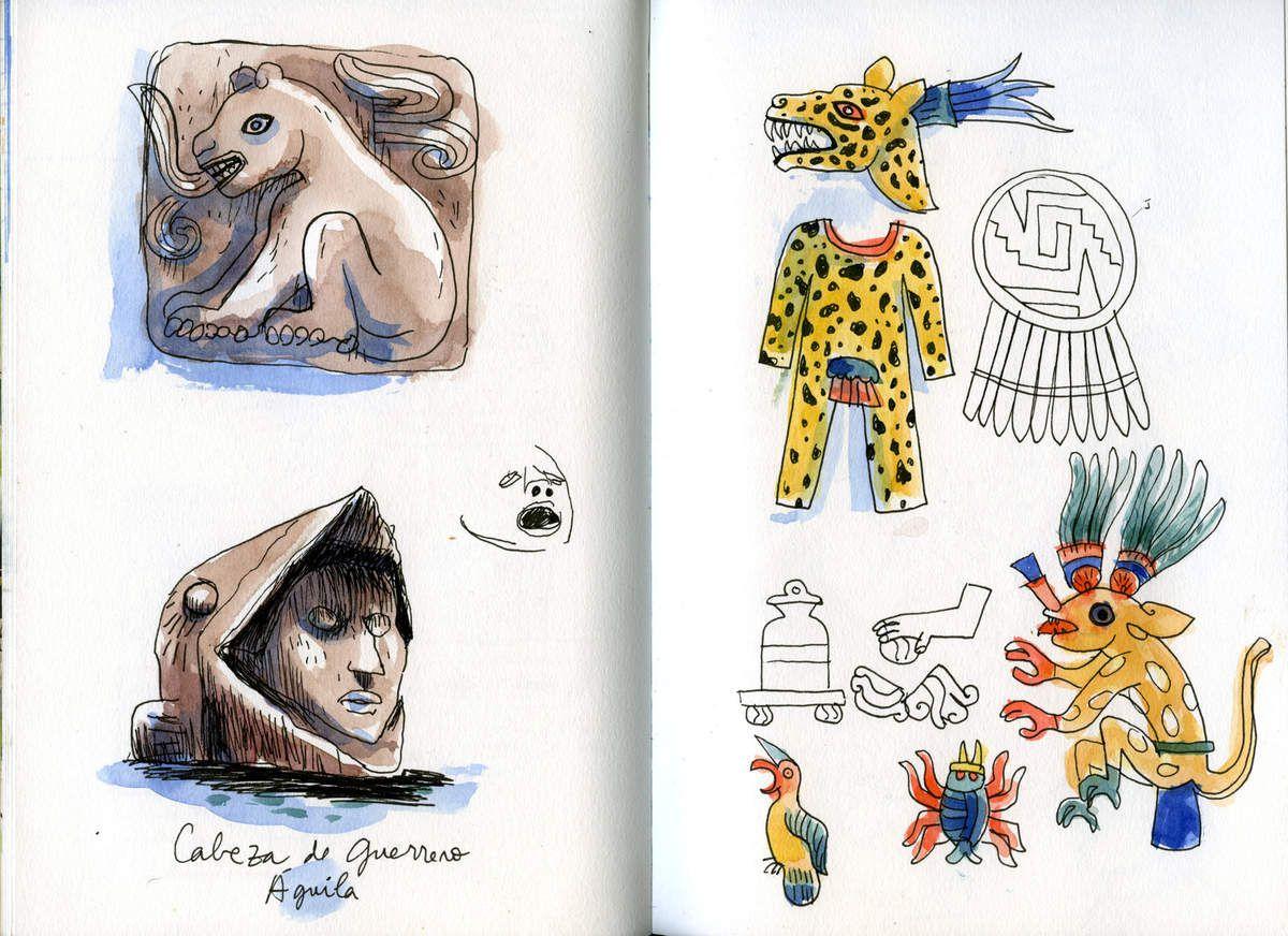 Des extraits de mes carnets de voyage au Mexique!