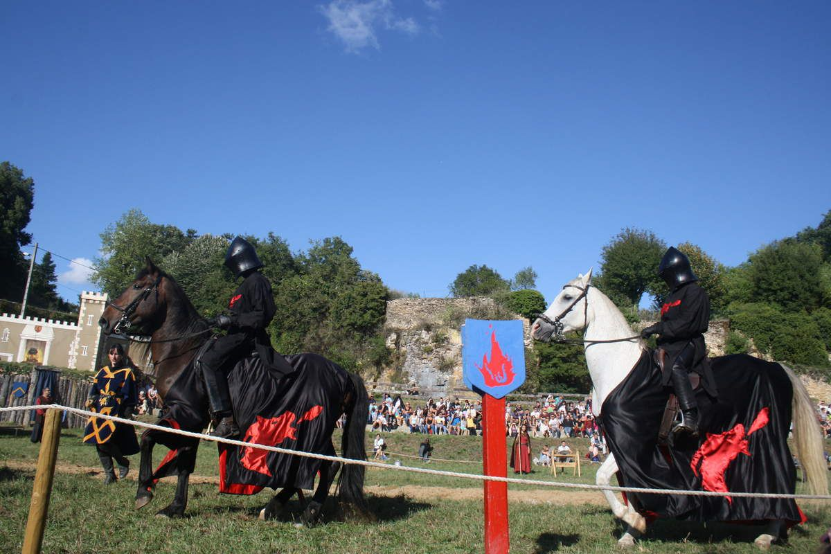 Petit train, troubadours et danse pour les enfants, tournoi de chevaliers....superbe évènement!