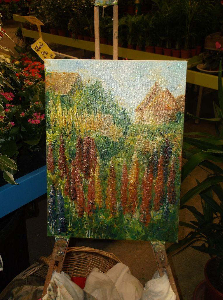 création sur place , à finir aussi...le jardin aux lupins