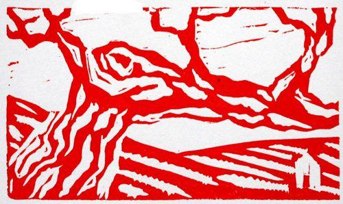 Arbres rouges / rouge deux