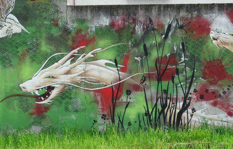 Street Art - Fresque asiatique
