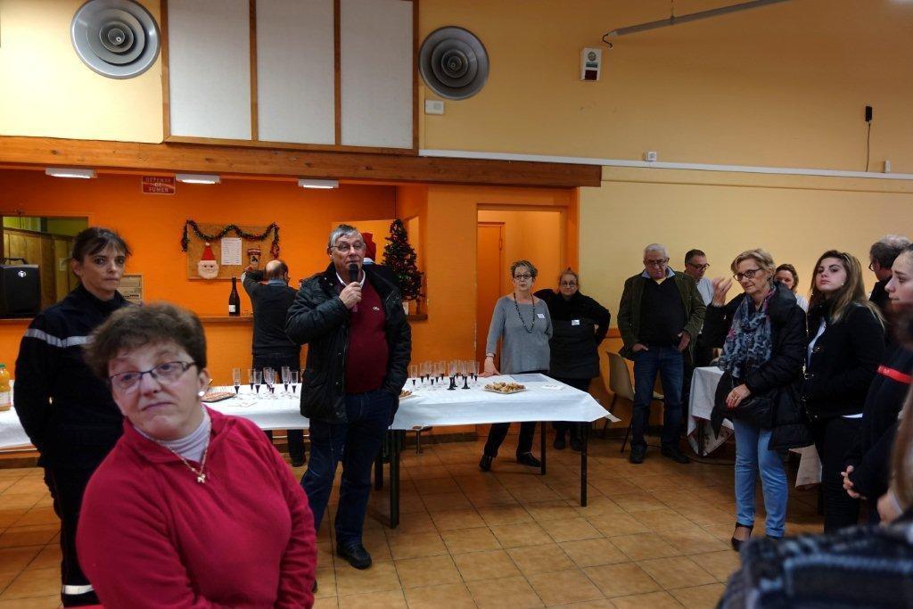 Lors de l'inauguration : Discours de notre Présidente Françoise et de Monsieur le Maire Alain Germain