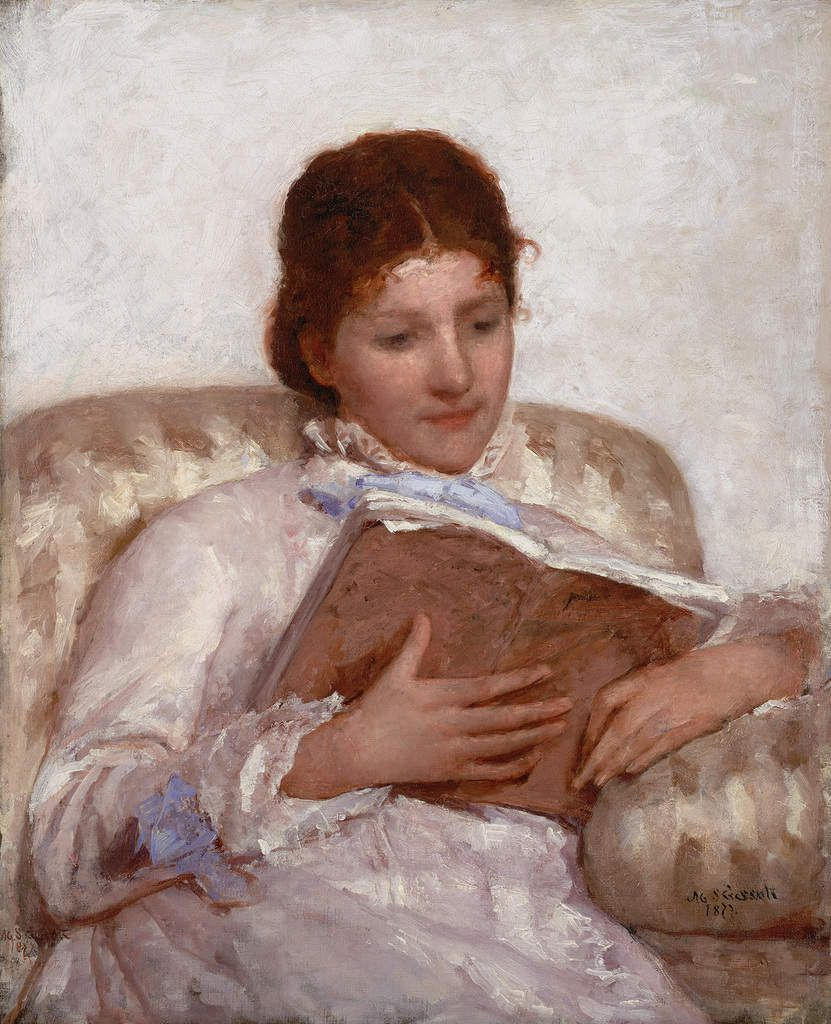 Mary Cassatt - La liseuse - huile sur toile - 1877