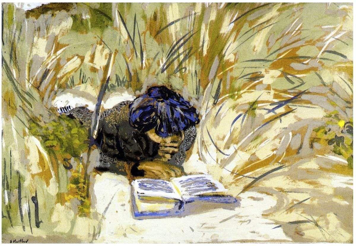 Édouard Vuillard - Femme lisant dans les roseaux - 1909