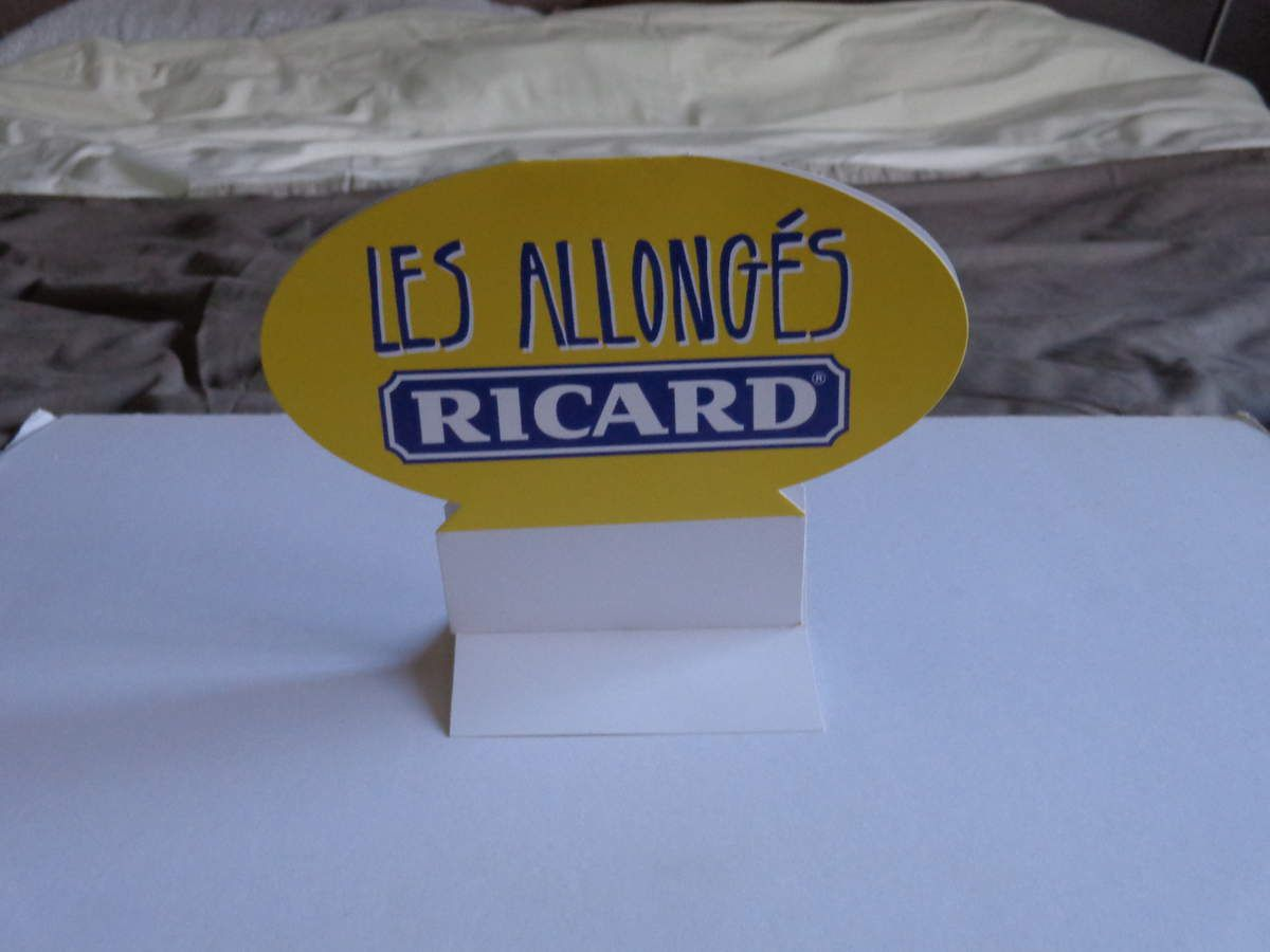 Chevalet de Table : Le Ricard Allongé