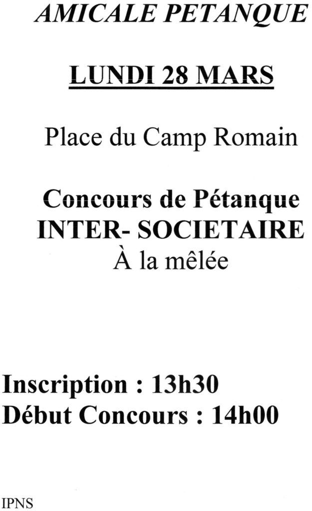 CONCOURS INTERSOCIETAIRE