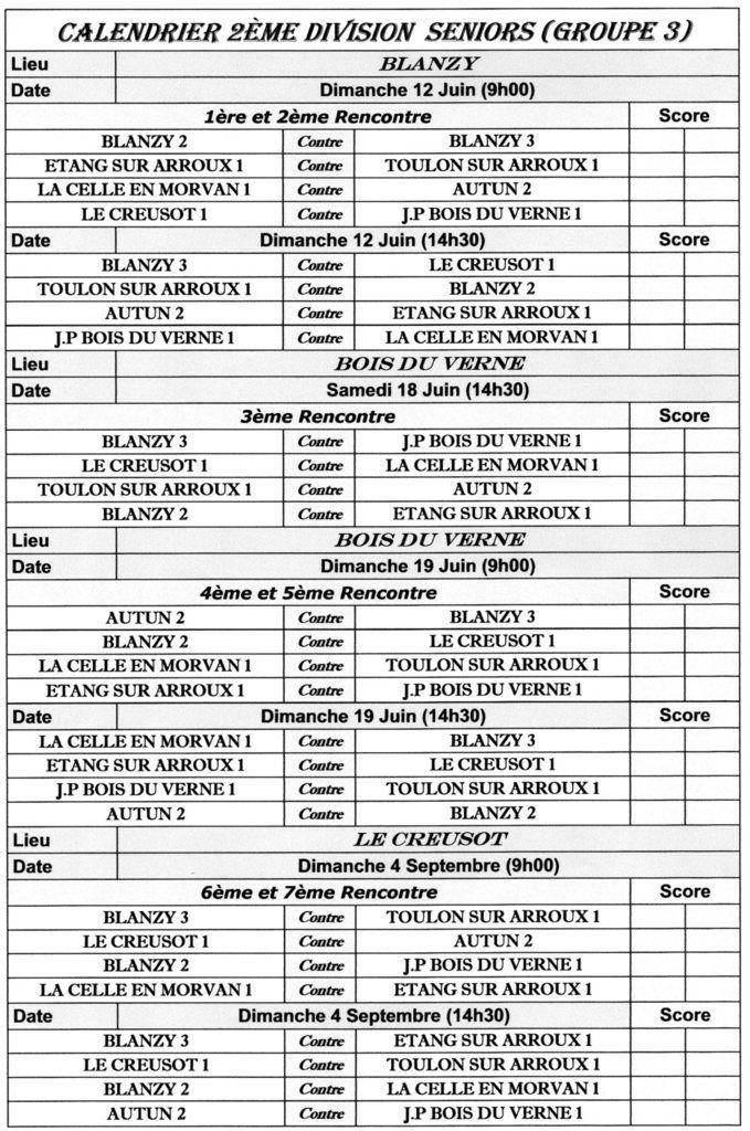 CHAMPIONNAT DES CLUBS 2016