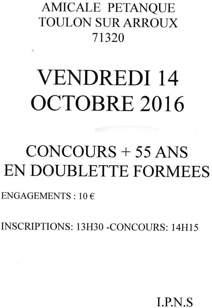CONCOURS  DOUBLETTE VETERANS