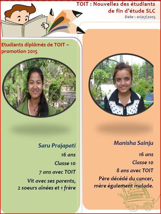 Examens de fin de secondaire à Bhaktapur : un succès pour les 13 étudiants candidats