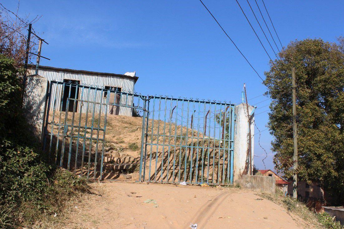 Entrée de l'école gouvernementale SMSS à Dhulikel