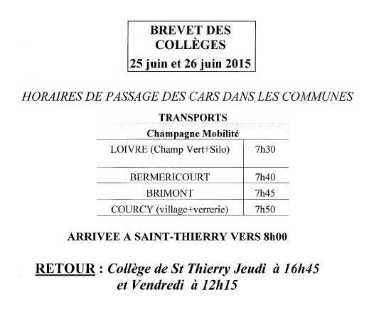 brevet des colleges 2015