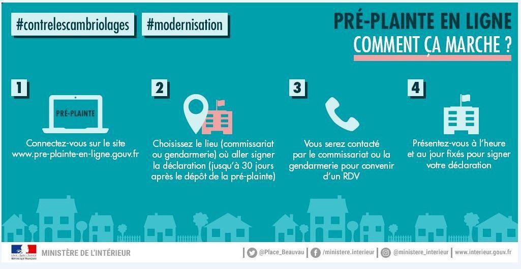 La gendarmerie de la Marne vous informe: Pré-Plainte en ligne