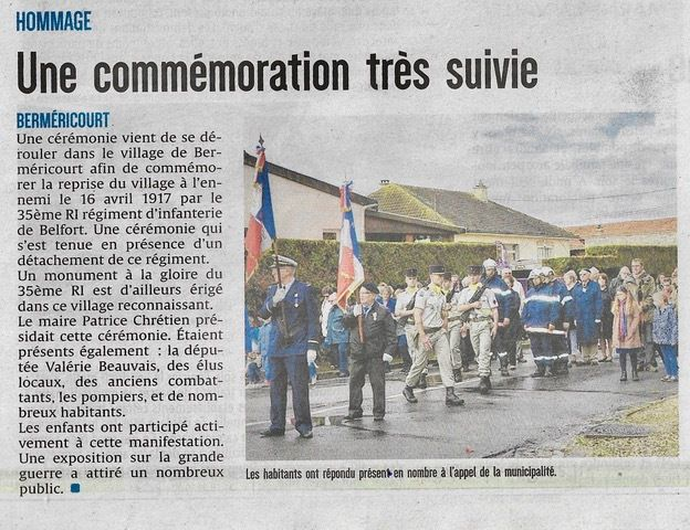 Article Paru dans l'Union le 28 septembre 2017