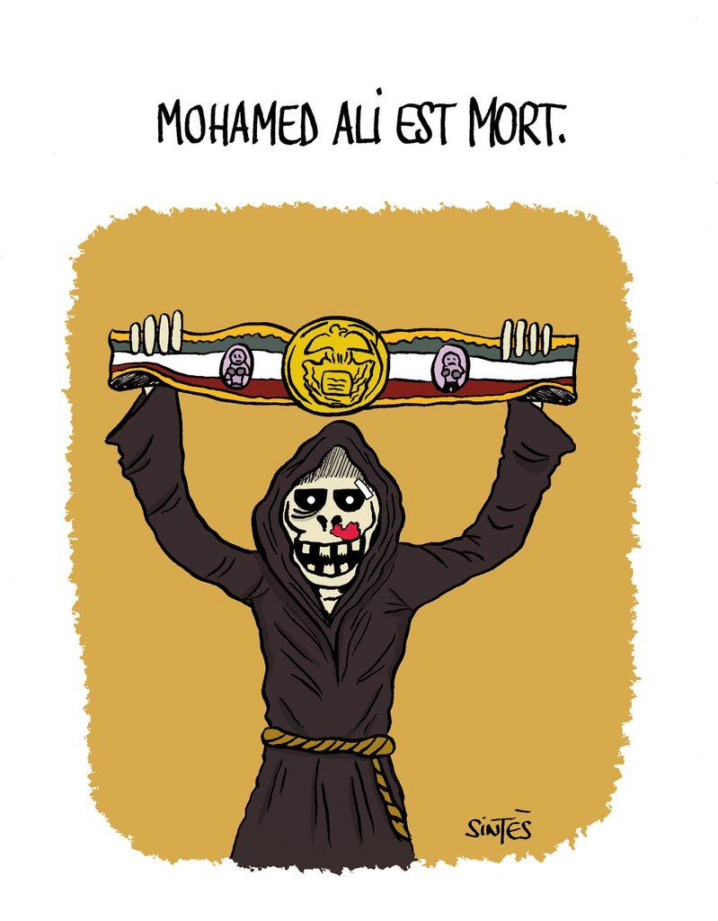 Hommage au Fabuleux Mohamed Ali.