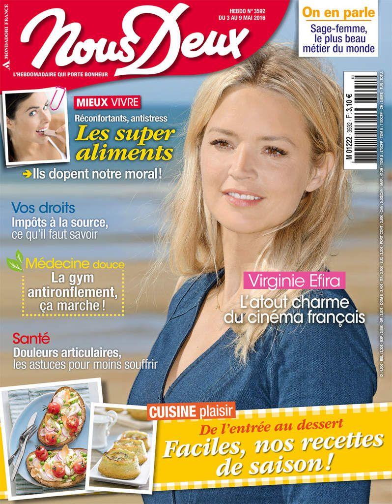 Viginie EFIRA en couverture de Nous Deux...