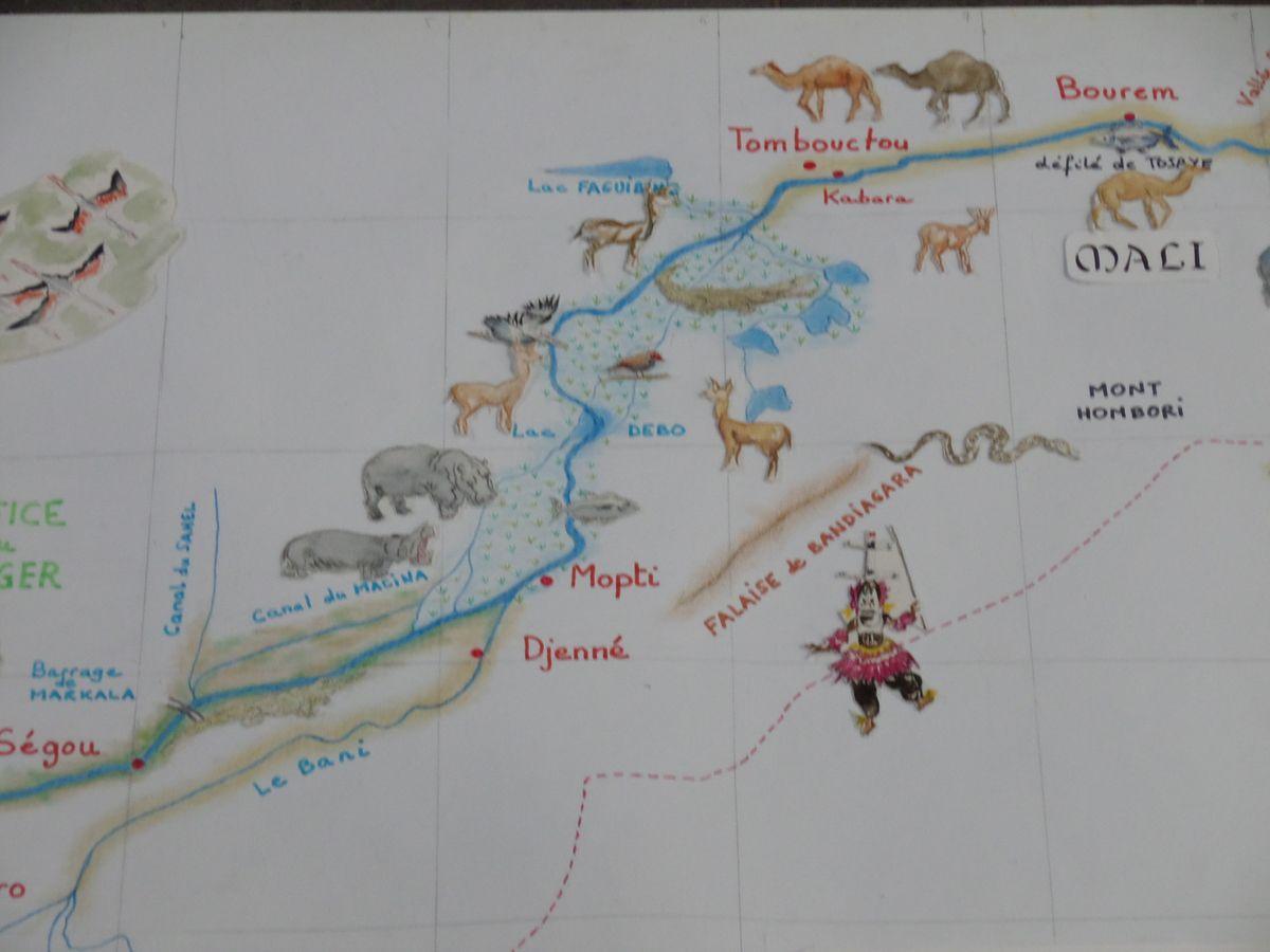 Carte crayon aquarelle, détail, expo Drapeau Blanc sept 2015