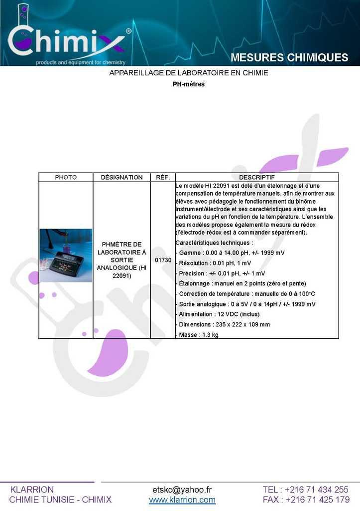 #Catalogue_Appareillage_de_Laboratoire
