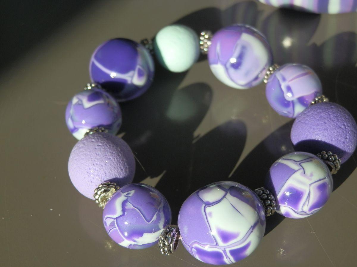 Bracelets mauves à gogo!