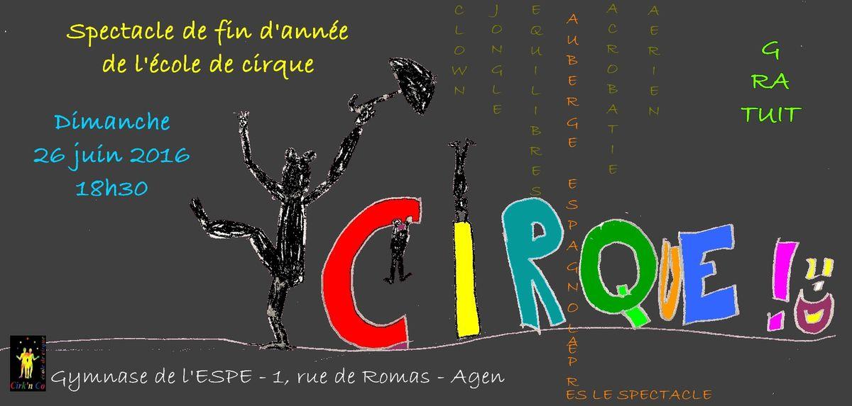 Spectacle de fin d'année de l'école de cirque