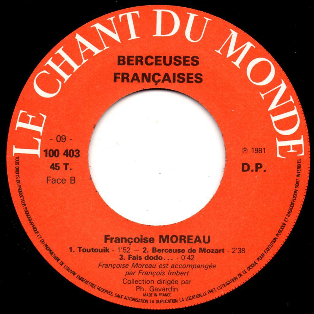 Françoise Moreau - berceuses françaises - 1981