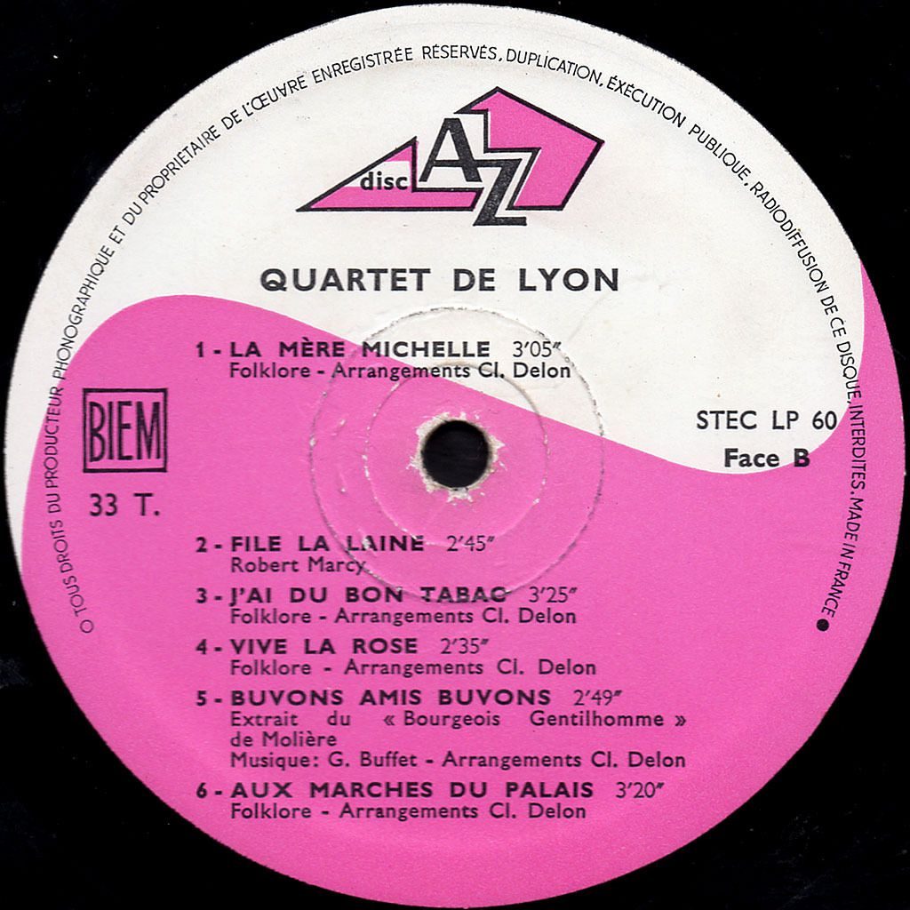le quartet de lyon - chansons de france - 1968