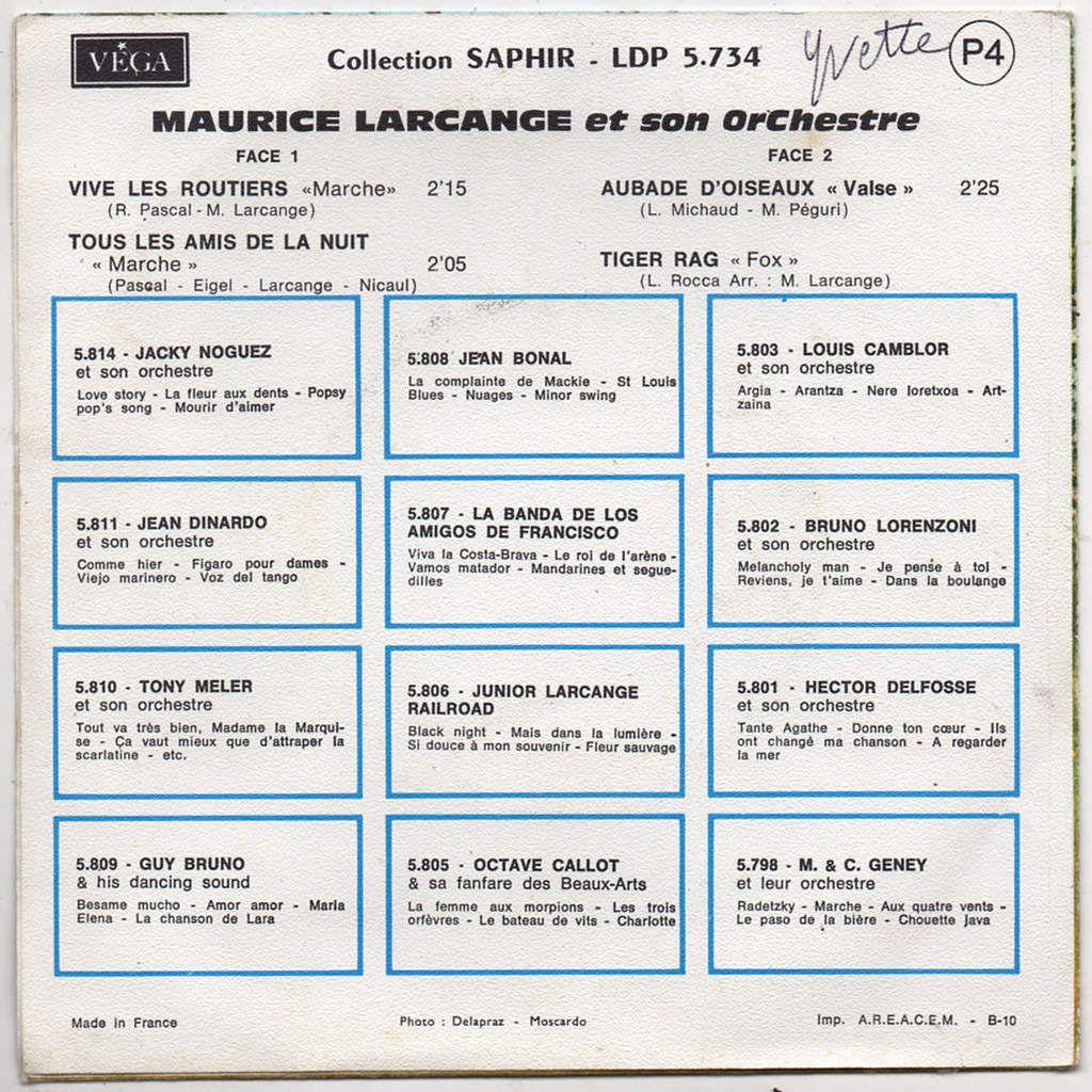Maurice Larcange et son Orchestre - tiger rag - 1969
