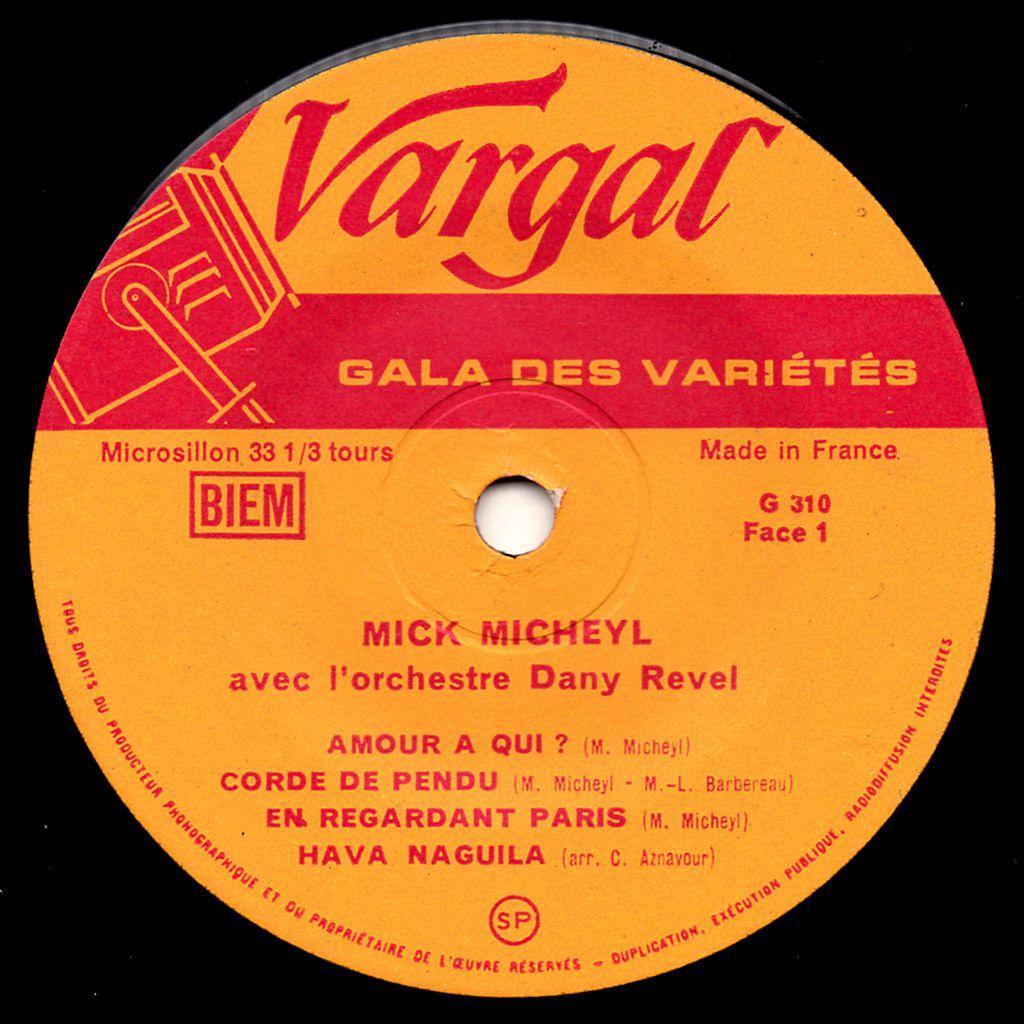 Une soirée avec Mick Micheyl - 1961