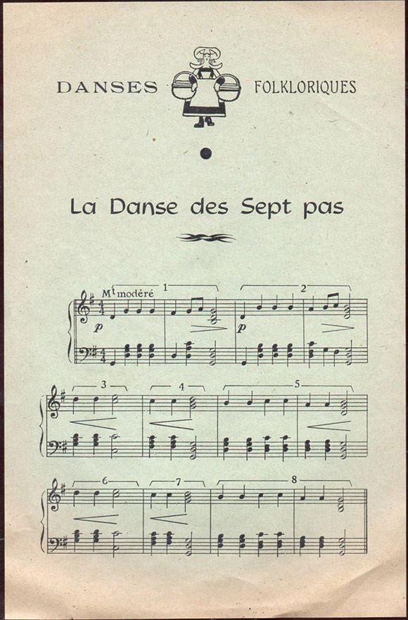 78 rpm/25 cm - Scoladisques N°2012 - la danse des sept pas