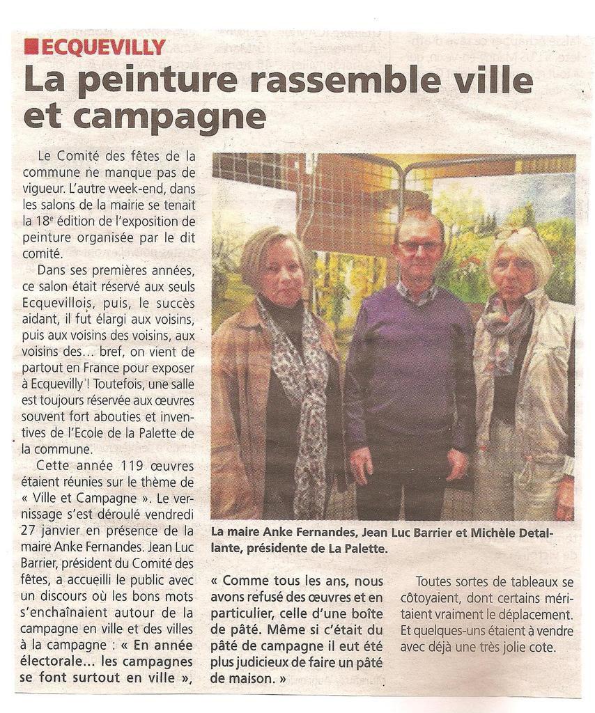 18ème salon des peintres d'Ecquevilly dans la presse régionale