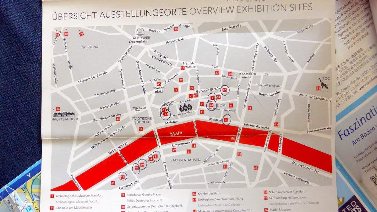 """Plan des Musées avec la """"MUSEUMSUFERCARD"""""""