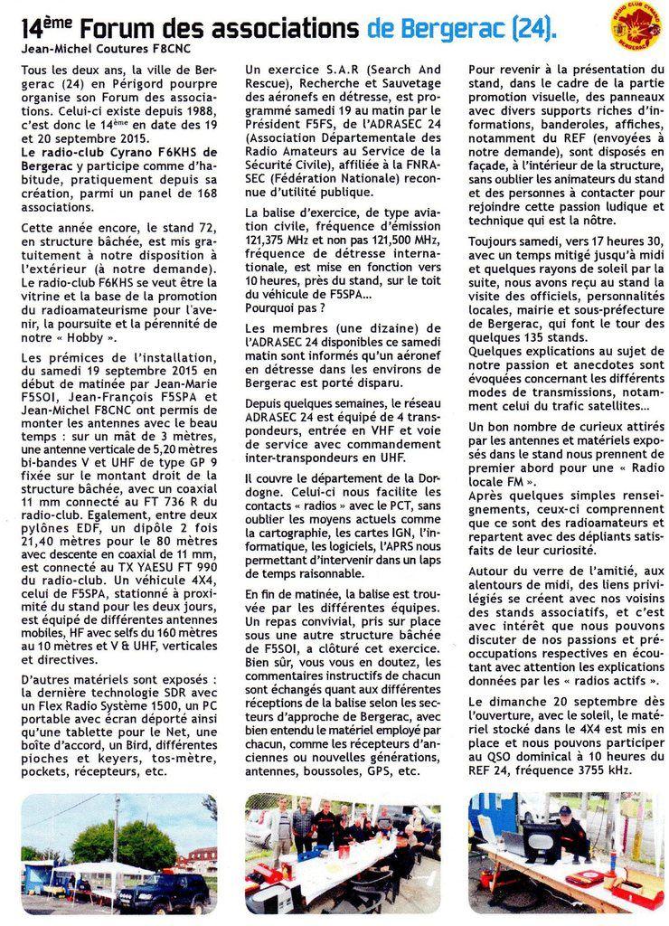 14ème forum des associations à Bergerac