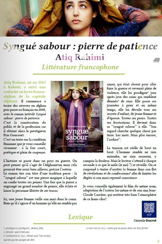 Livres francophones du mois : La mécanique du coeur et Syngué Sabour