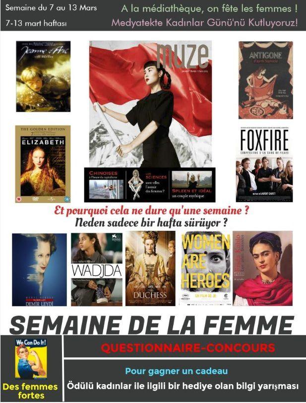 A la médiathèque, on fête les femmes / Medyateke Kadınlar Günü Kutluyoruz
