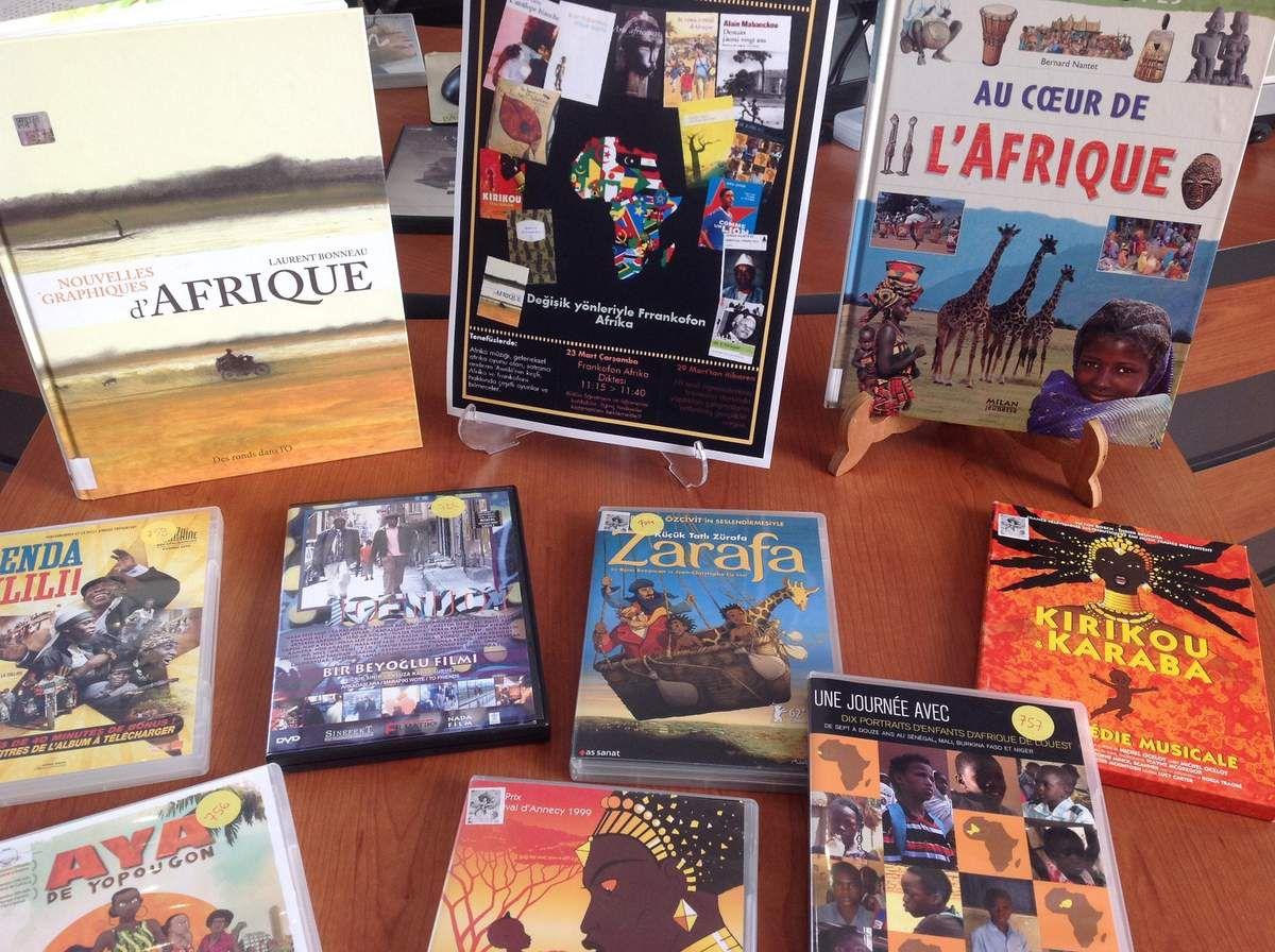 L'Afrique francophone du 21 mars au 1er avril à la médiathèque / 21 Mart-1 Nisan Haftası medyatekte Frankofon Afrika Haftası